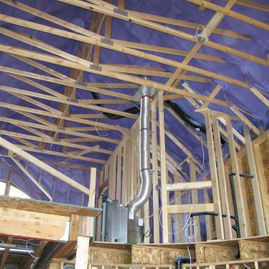 Spray Foam Insulation in house